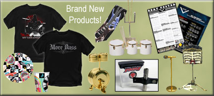 Unique Drummer Gifts from Drum Bum! New drummer T-shirts, drumbeat poster, drumstick rack, music shirts, drumline miniatures such as mini tenor drum, ...