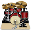 3d drum kit greeting card