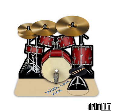 Drum Bum Miscell Greeting Cards 3d Drum Kit Greeting Card