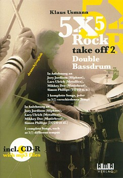 5X5 Rock: Double Bass Drum Book/CD
