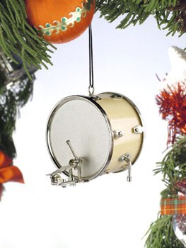 DRUM BUM MISCELL CHRISTMAS Bass Drum Ornament