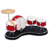 beaded drumset figurine