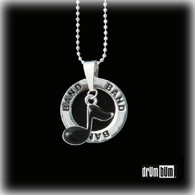 MUSIC GIFTS: Notes: Black 8th Note Band Necklace - Jewelry for ...