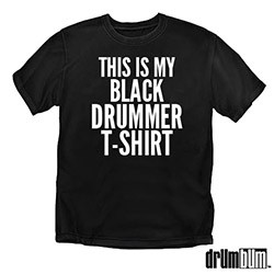 black drummer shirt
