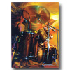 Bam! Drums Greeting Cards