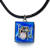 Blue Drumset Pendent Necklace