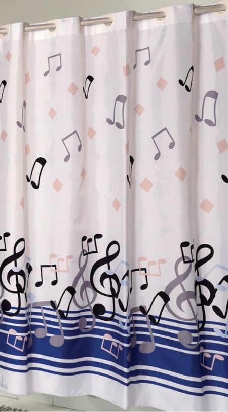 Blue Note Shower Curtain Mgmsc 776