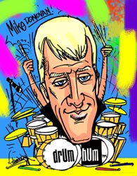 Drum Bum Personalized Caricature Print