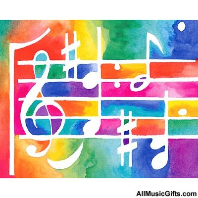music staff clipart. freedom deluxe, Colourful