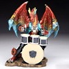 dragon drumset figurine