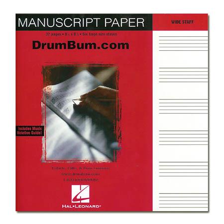 Manuscript Paper Book Drum Bum Manuscript Paper Book