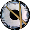 Drum with Sticks Coasters