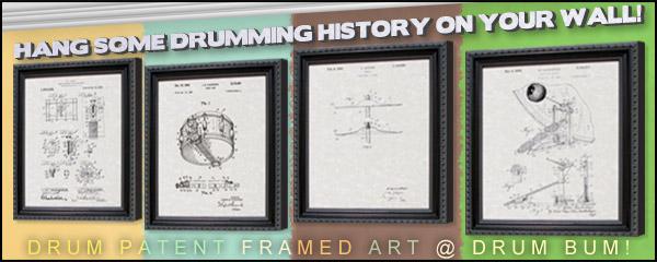 Drum Patents Wall Art