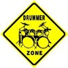 Drummer Zone Sign
