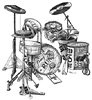 Drumset Print Artwork