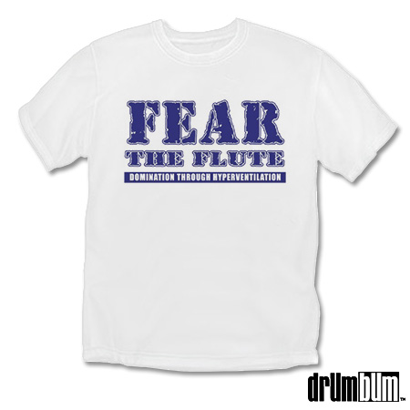 2cf776630 MUSIC GIFTS: HORNS: Fear The Flute T-shirt, musical gift for flute ...