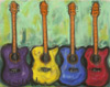 Four Guitars Painting