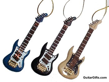 MUSIC GIFTS: GUITAR: MISC: Guitar Christmas Ornament