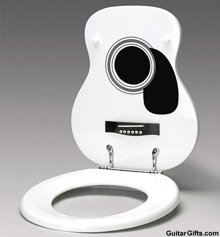 black and white toilet seat. guitar toilet seat white jpg MUSIC GIFTS  GUITAR HOUSEWARES White Acoustic Guitar Toilet Seat