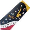 Horns & Music Notes Tie
