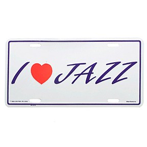 MUSIC GIFTS MISC Jazz License Plate