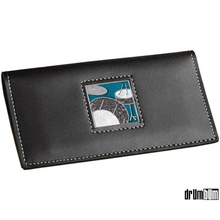 leather checkbook cover. Leather Drumset Checkbook