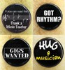 Music Buttons 4 Pack