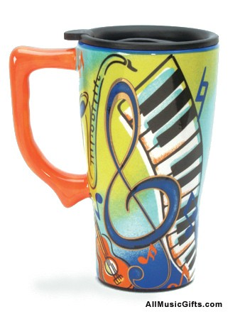 Music Ceramic Travel Mug