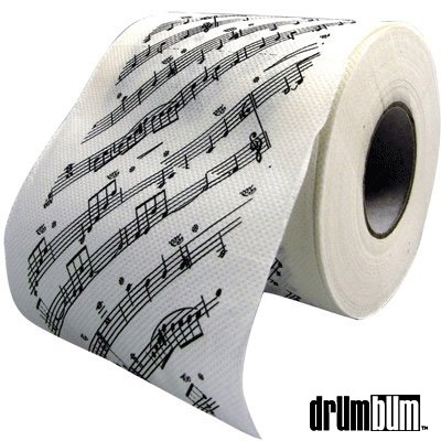Music Gifts Notes Sheet Music Toilet Paper