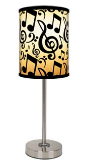 music notes lamp