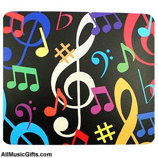 Music-notes-mousepad