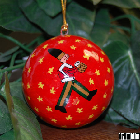 Christmas Drum Decor.Drum Bum Miscell Christmas Hand Painted Paper Mache