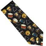 Retro Percussion Silk Tie