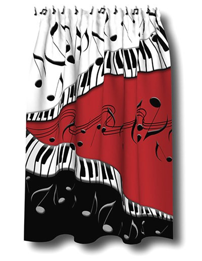 MUSIC GIFTS: Piano: Music Shower Curtain