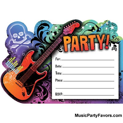 MUSIC GIFTS: MISC. - Rock Star Invitations