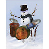 snowman holiday card