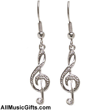 Gifts Notes Treble Clef Earrings