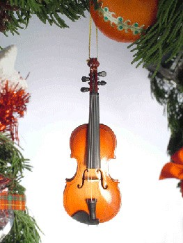 item # mgch 14 christmas ornament violin let your christmas spirit ...