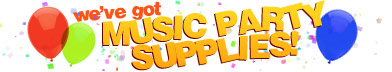 We've got Music Party Supplies!