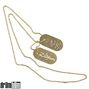 DRUM BUM JEWELRY NECKLACES Zildjian Cymbal Dog Tags Zildjian