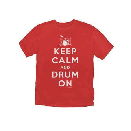 Keep Calm and Drum On T-Shirt from DrumBum.com
