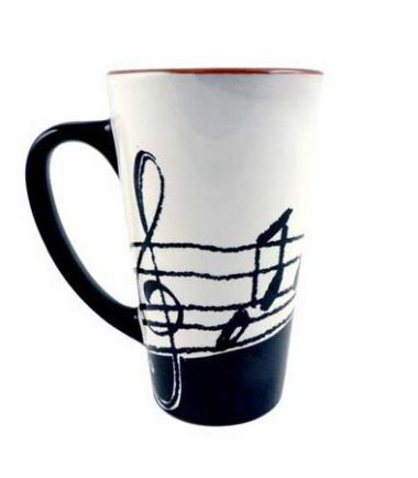 Music Notes Large Latte Mug from DrumBum.com