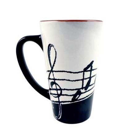 Music Notes Large Latte Mug from DrumBum.com