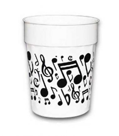Music Notes Plastic Cup from DrumBum.com