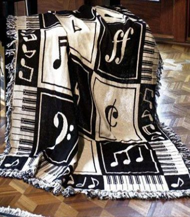 Music Notes Tapestry Throw from DrumBum.com