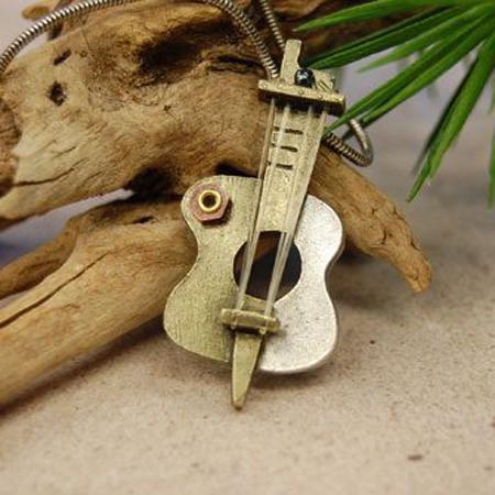 Modern Guitar Necklace from DrumBum.com