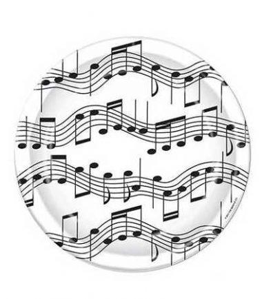 Sheet Music Dessert Plates from DrumBum.com