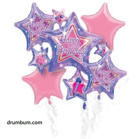 birthday stars balloon music
