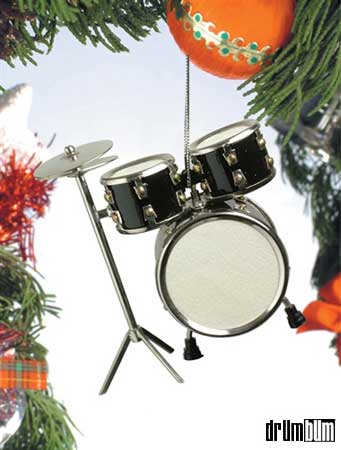 Drum ... - Drum Set Ornament - Black Music Gifts For Musicians. Drummer Gifts