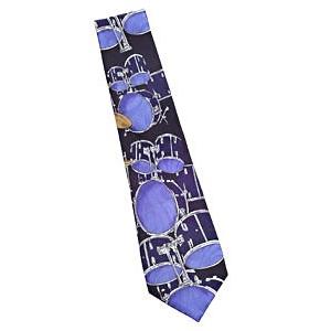 blue drumset tie